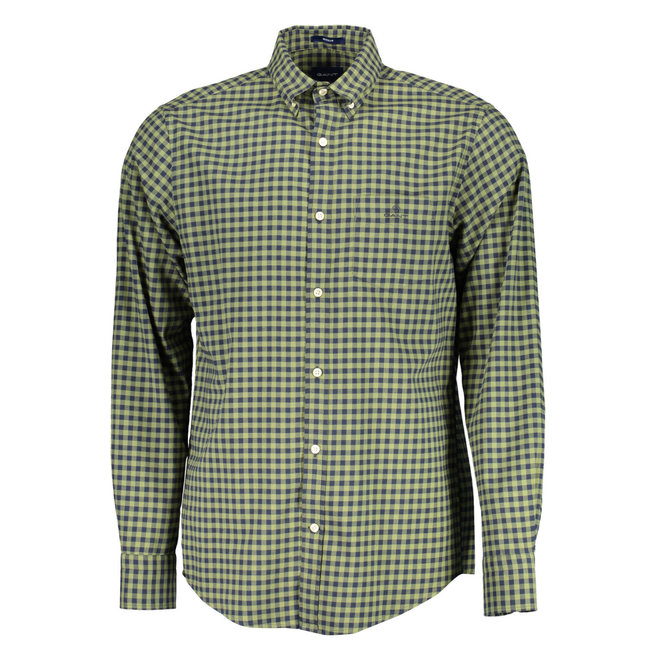 Regular Fit Winter Twill Buffalo Check Shirt -Green