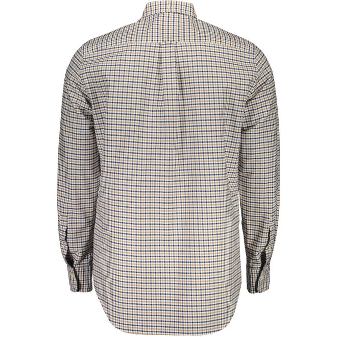 Regular Fit Three-Color Gingham Oxford Shirt
