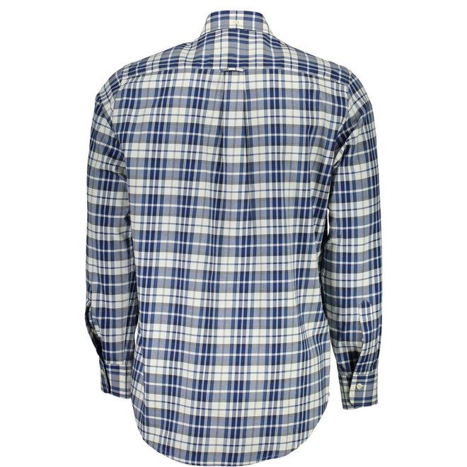 Regular Winter Twill Plaid Shirt  White/blue