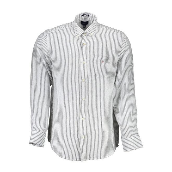 Linen Banker Regular Fit Shirt - White