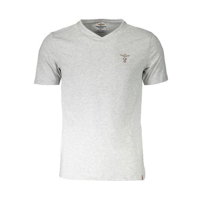 Crew neck T-shirt - Heather grey