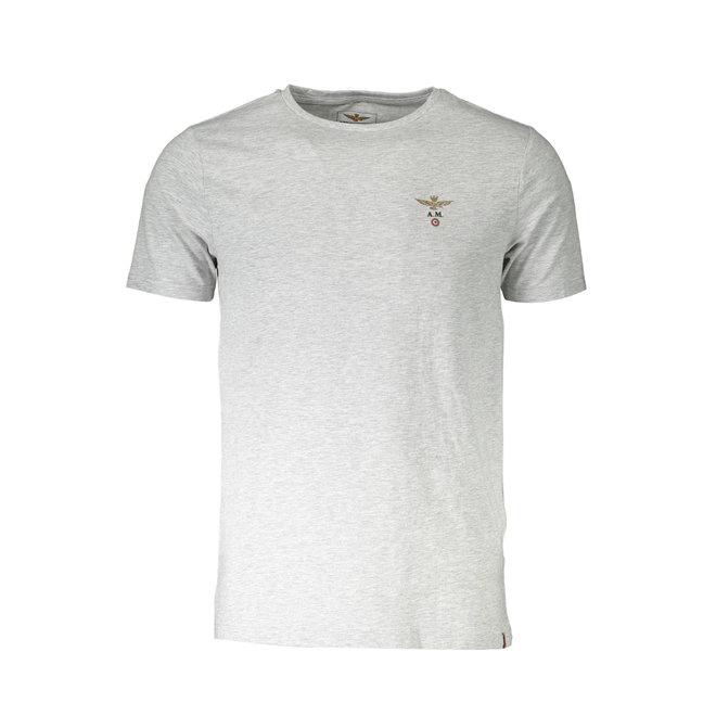 V- neck T-shirt - Heather grey