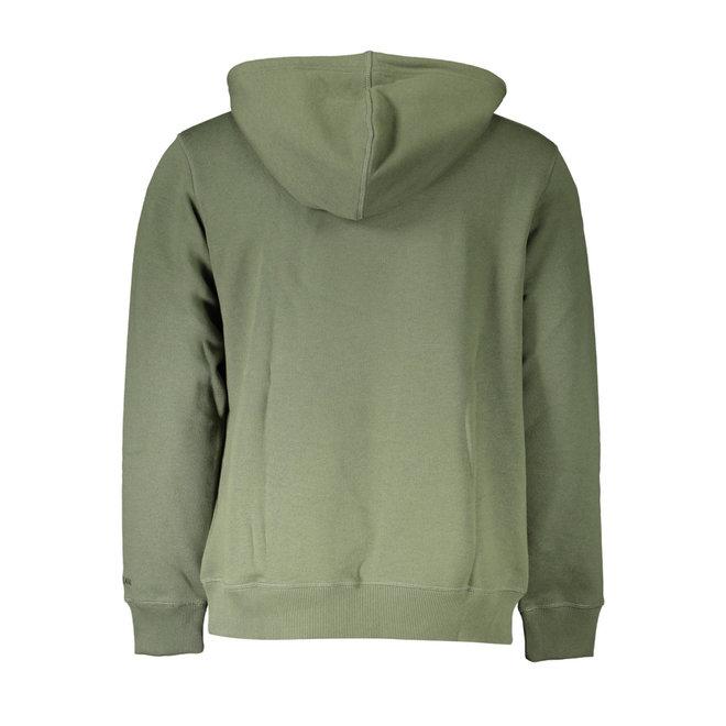 Cotton Blend Fleece Hoodie - Green