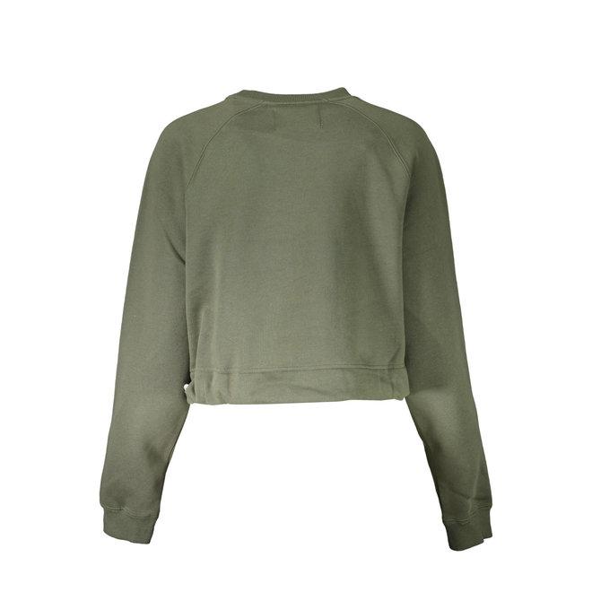 Cropped Logo Sweatshirt - Green