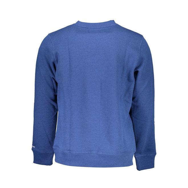Cotton Blend Fleece Sweatshirt - Blue