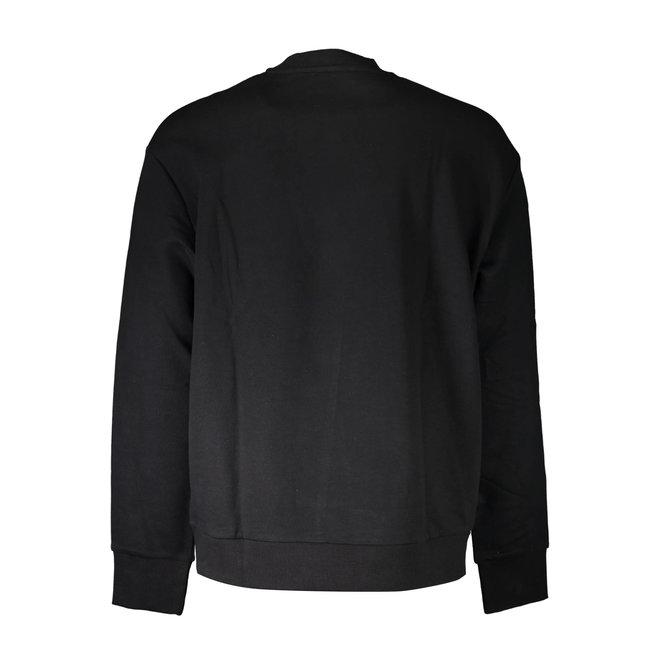 S-Samy Crew neck sweatshirt with double logo - Black