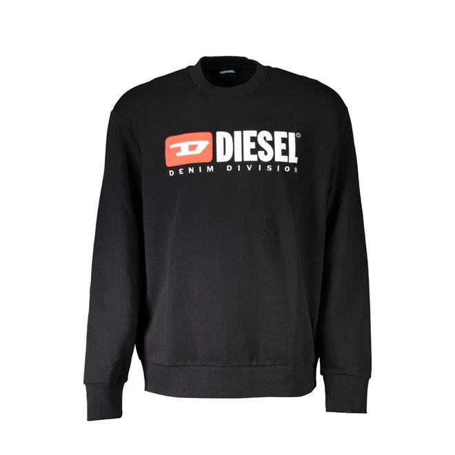 S-Crew Division   Crew-neck sweatshirt with 90's Diesel logo - Black