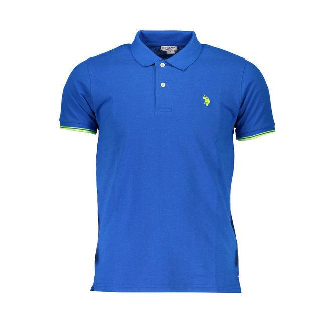 Tipped Relaxed Fit Jersey Polo Shirt - Electric Blue