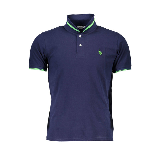Tipped Relaxed Fit Jersey Polo Shirt- Navy Blue