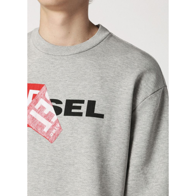 S-Samy Crew neck sweatshirt with double logo - Grey