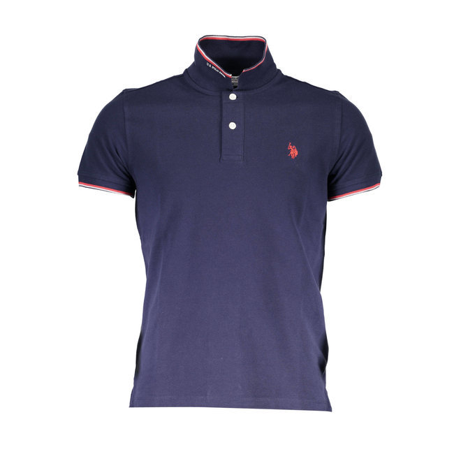 Tipped Relaxed Fit Jersey Polo Shirt-Navy Blue