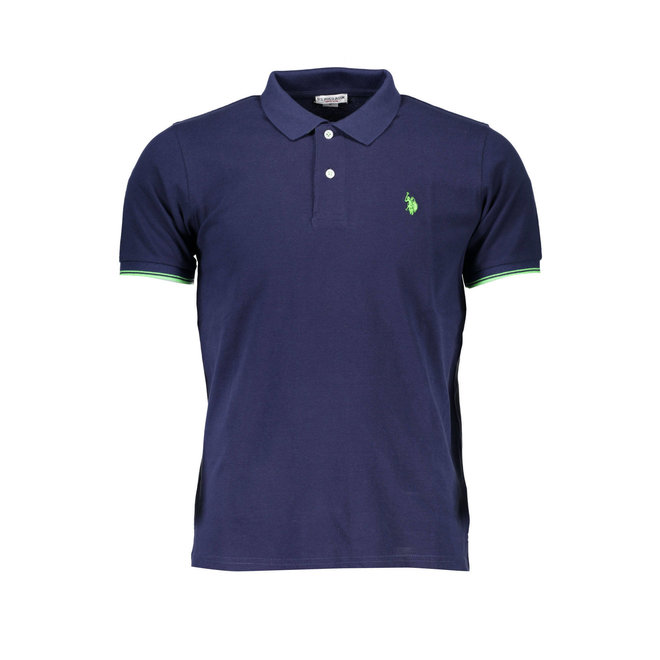 Tipped Relaxed Fit Jersey Polo Shirt - Dark blue