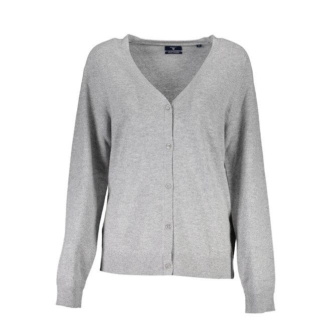Wool Cashmere Cardigan Women - Grey