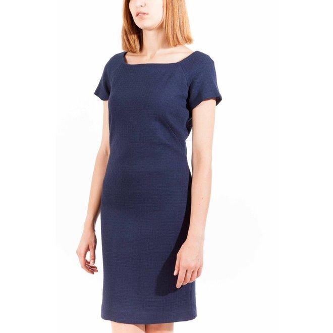 Blue wool blend dress