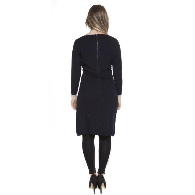 Basic  woolblend Women Dress - Blue