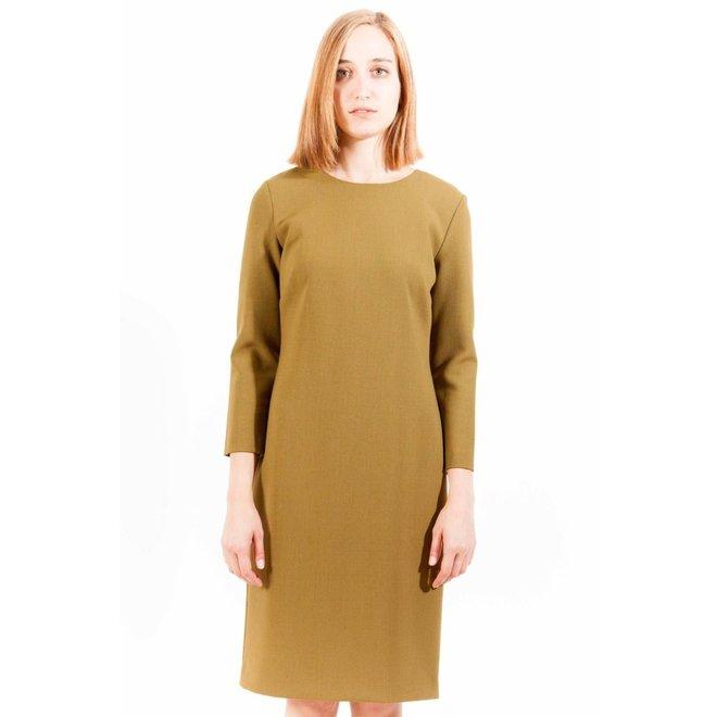 Basic  Women Dress - Ochre