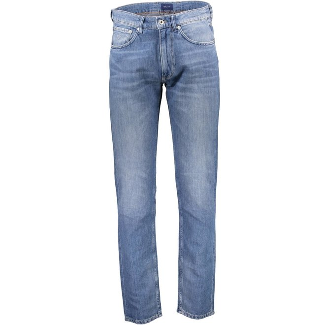 Relaxed Fit Linen Blend Jeans
