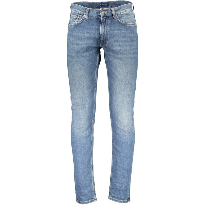 Tapered jeans -  Mid light blue