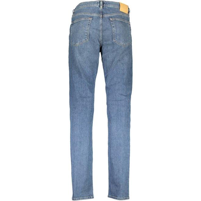 Slim Fit Jeans men -  Mid Blue Worn In