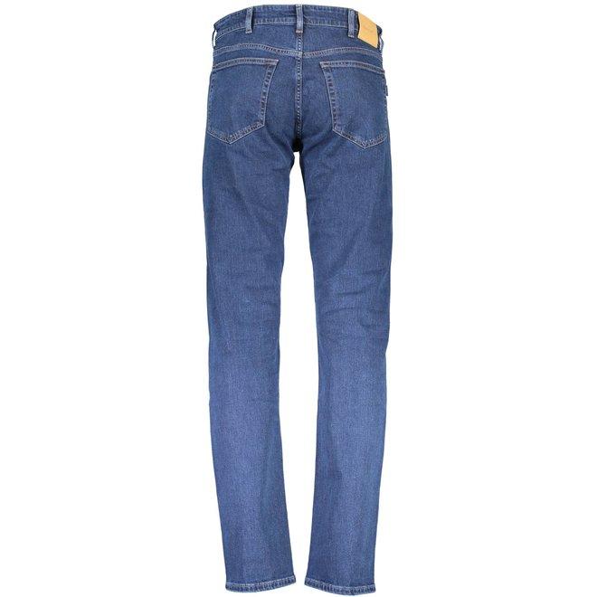 Regular Fit 11oz Jeans - Dark Blue Broken In