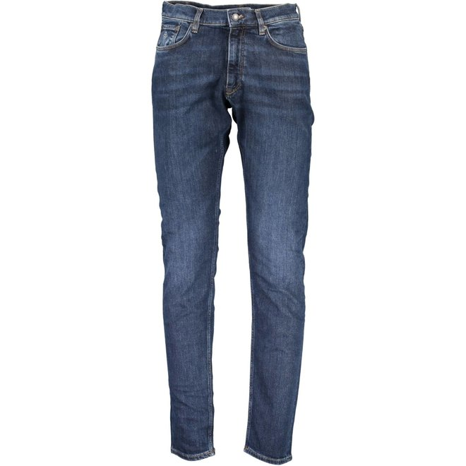 Tapered jeans -  Mid blue
