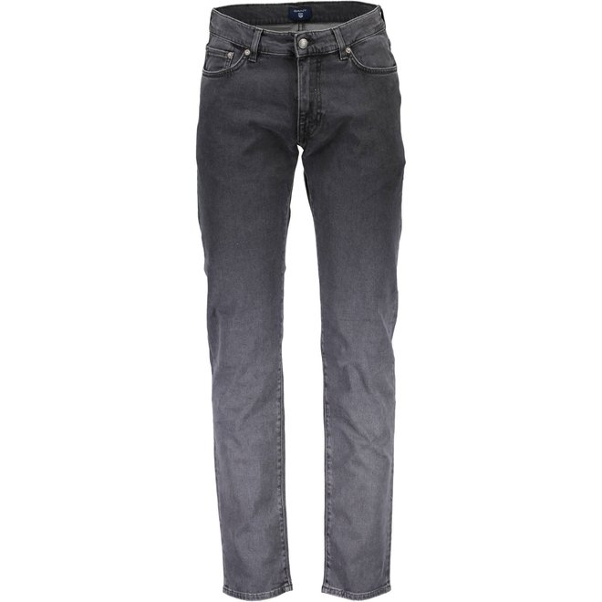 Slim  Straight Jeans -Grey