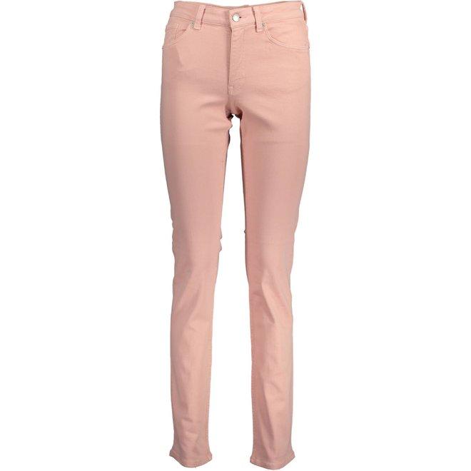 Slim Fit Twill Jeans -Rosa