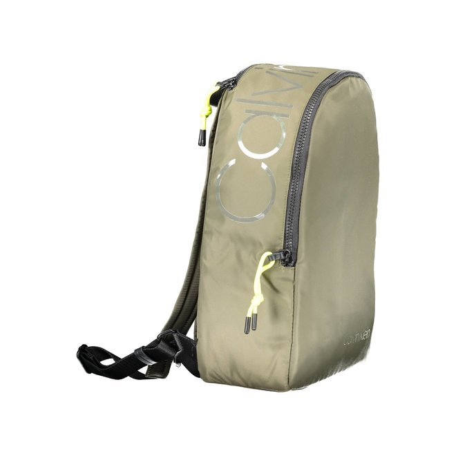 Nylon Twill Round Backpack -Green