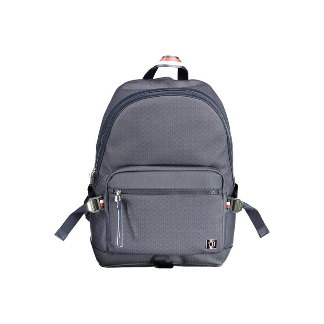 Coated canvas Backpack Navy Monogram