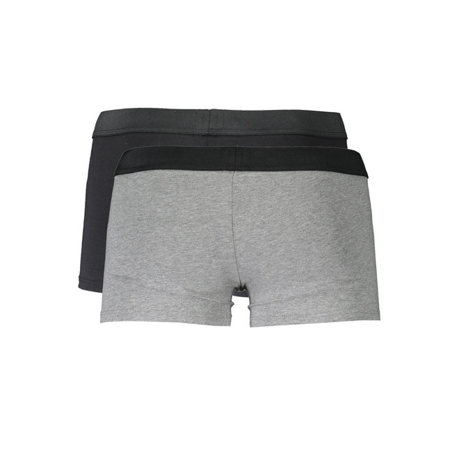 UBMX- Roccotwopack | 2 pack trunks in stretch cotton - Black/grey