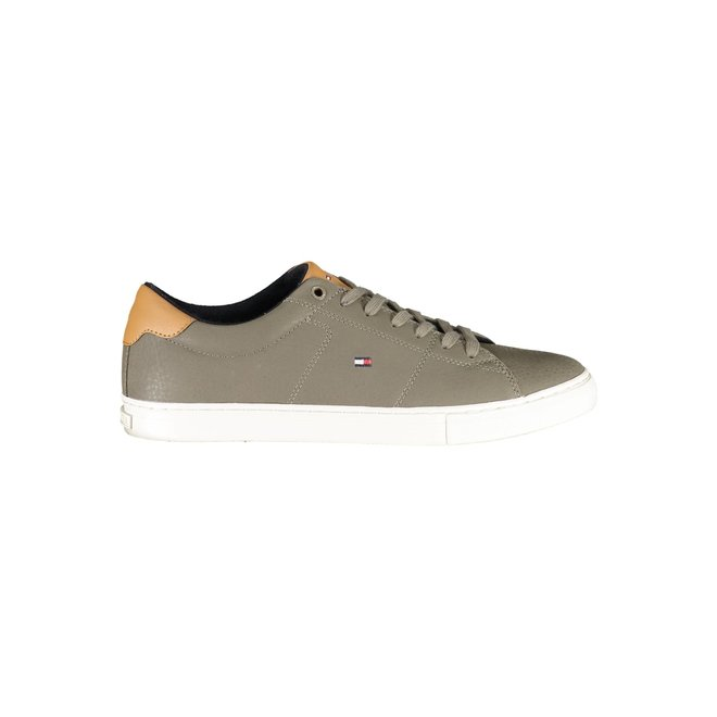 Nubuck Leather Mix Trainers - Brown/Leather