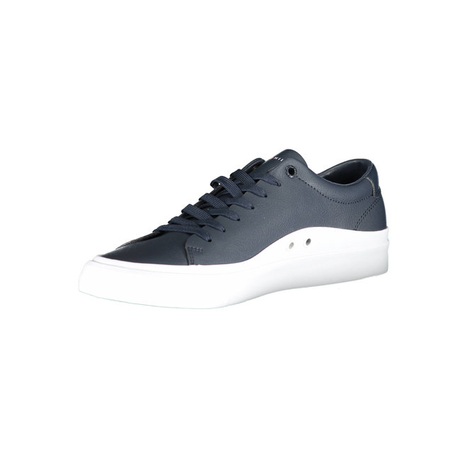 Signature Leather Low-Top Trainers - Navy blue