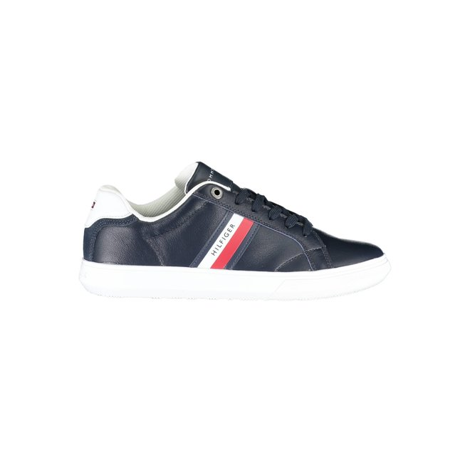 Essential Mixed Texture Low-Top Trainers - Blue