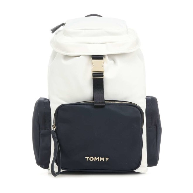 Large Multi-Pocket Backpack - White