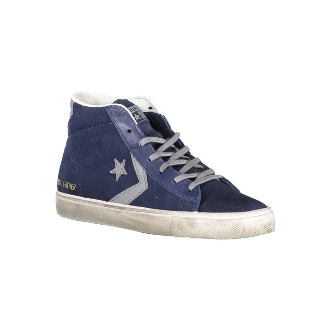 Pro Leather Vulc Mid Suede Distressed - Blue
