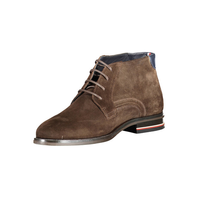 Signature Logo Suede Boots -Brown