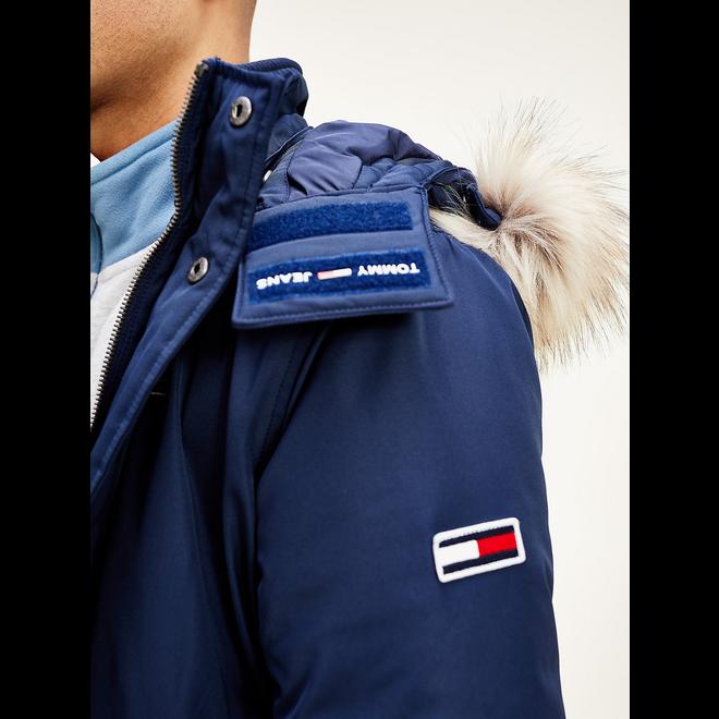 Fur Detail Hooded Bomber Jacket