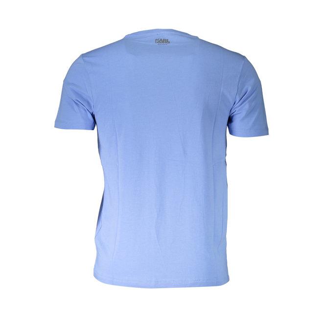Cotton crew neck T-shirt - Light blue