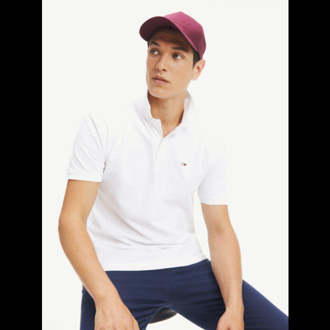 Classic Stretch Cotton Polo - White