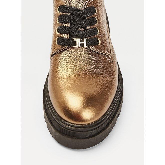 Classics Monogram Plaque Metallic Shoes