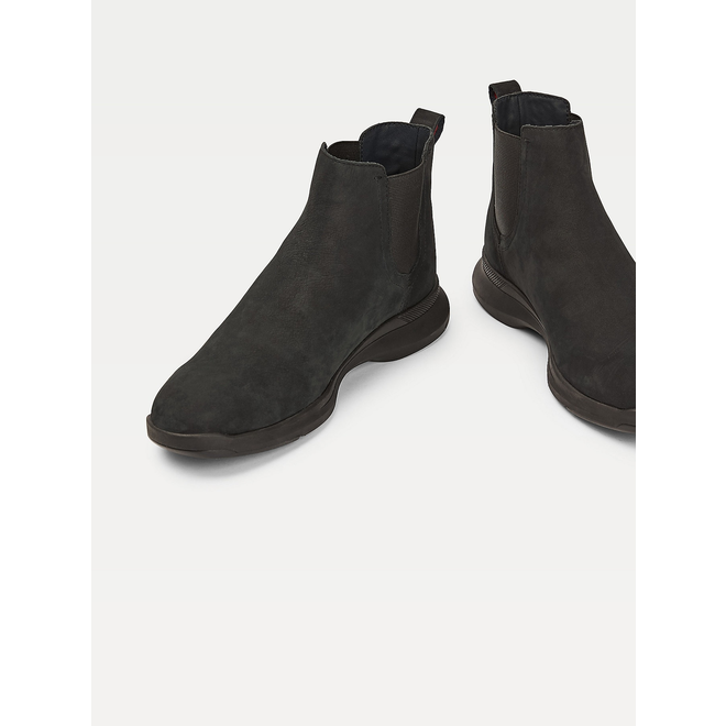 Leather Hybrid suede Chelsea boots - Black