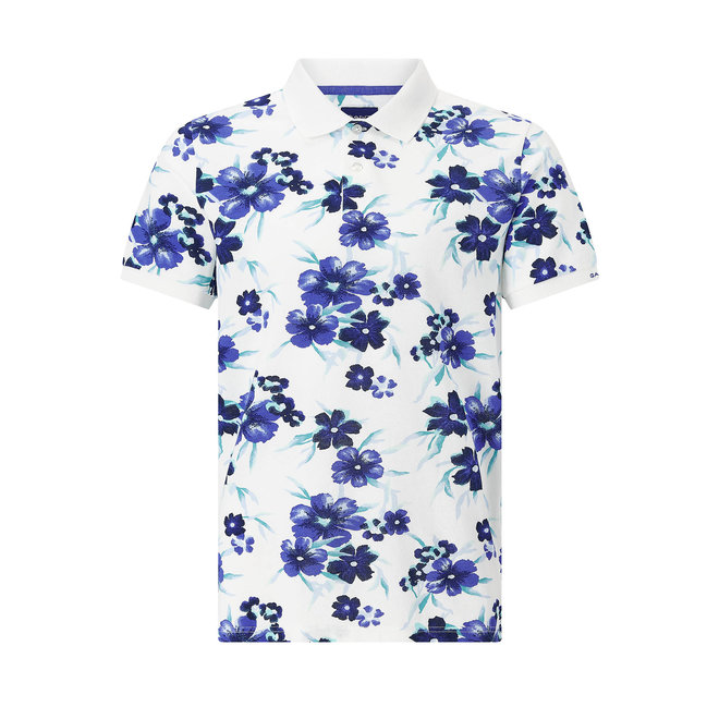 All Over Floral Polo Shirt - Eggshell