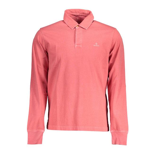 Sunfaded Long Sleeve Rugger Polo Shirt