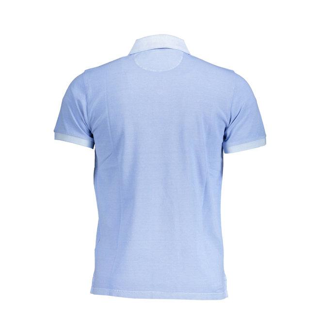 Sunfaded Piqué Rugger men  - Capri Blue