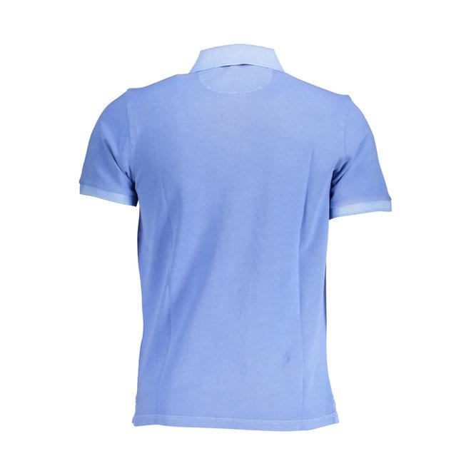 Sunfaded Piqué Rugger men -  Pacific Blue