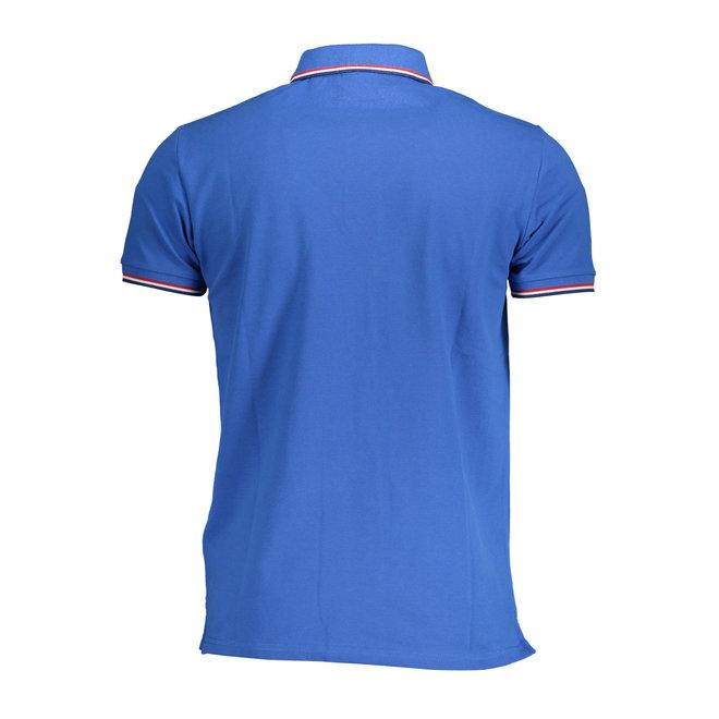 3-Color Tipping Piqué Rugger -  Nautical Blue