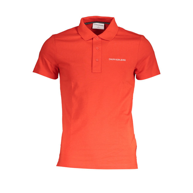 Embroidered Logo Polo Shirt -Red