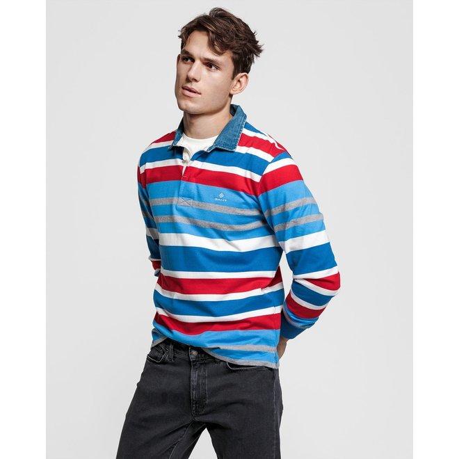 Blue Multi Stripe Heavy Rugger men