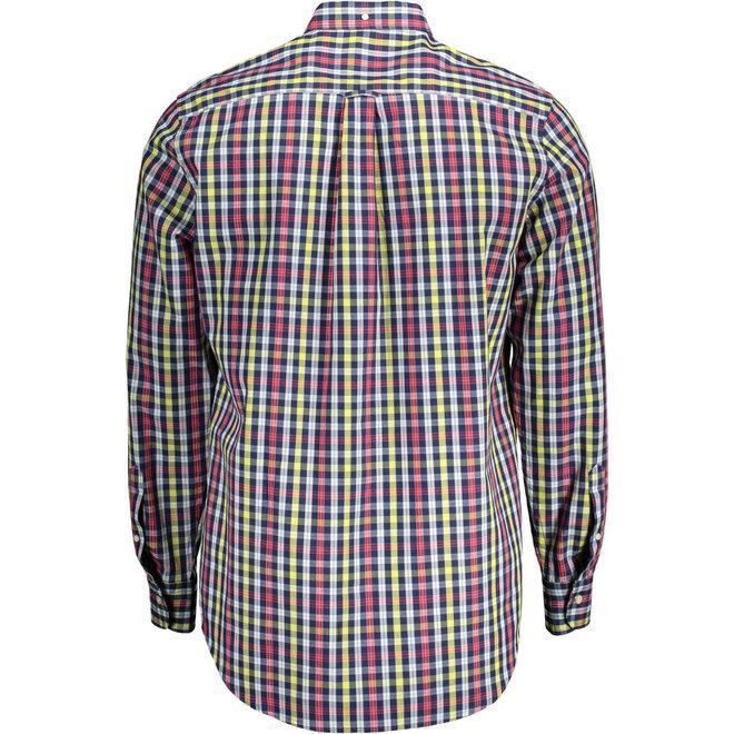 Red Regular Fit Tech Prep™ Indigo Check Broadcloth Shirt men