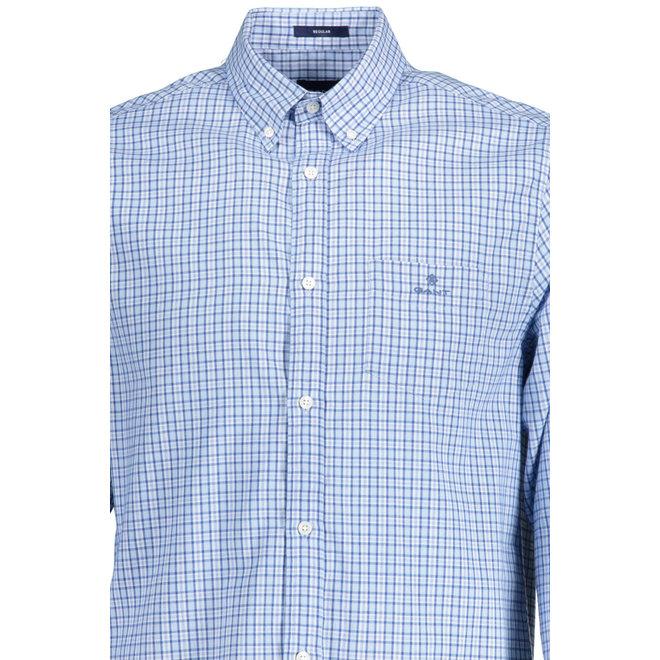 Blue Regular Fit Check Windblown Oxford Shirt